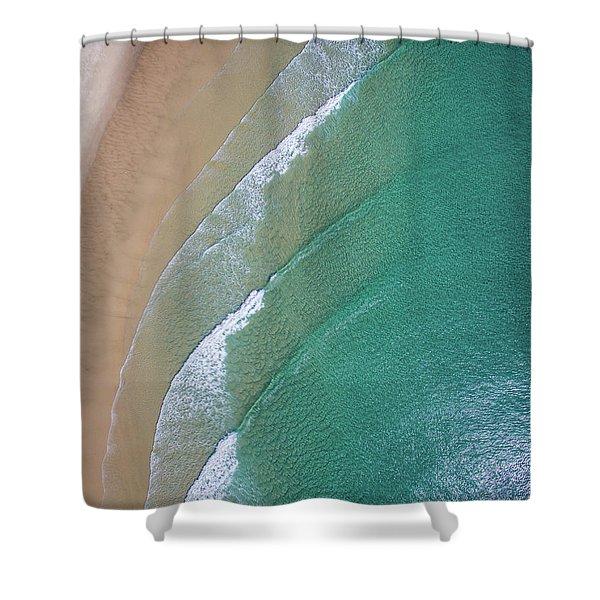 Ocean Waves Upon The Beach Shower Curtain