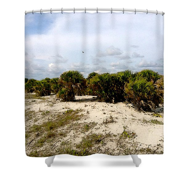 Oceans Bluff   Shower Curtain