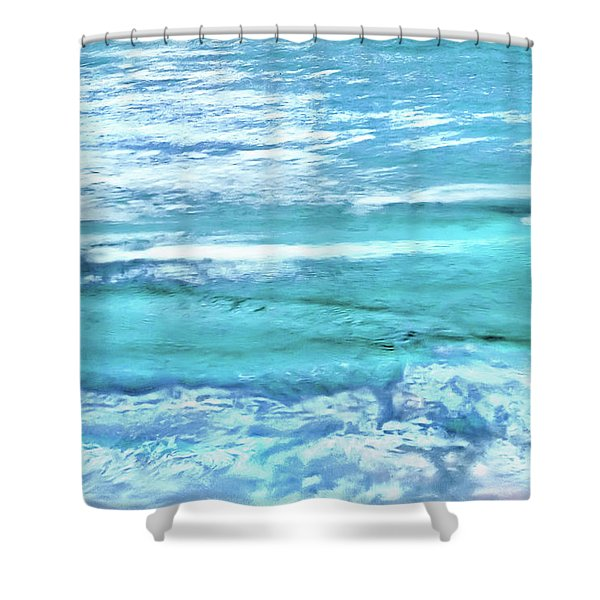 Oceans Of Teal Shower Curtain