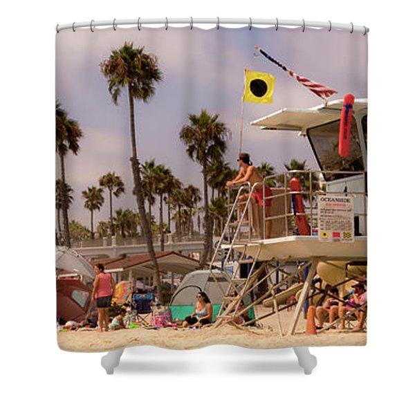 Oceanside Beach Shower Curtain