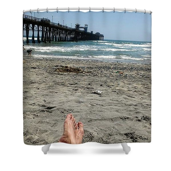 Oceanside Pier Shower Curtain