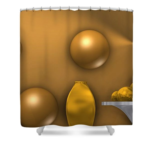 Ochre Still Life Shower Curtain