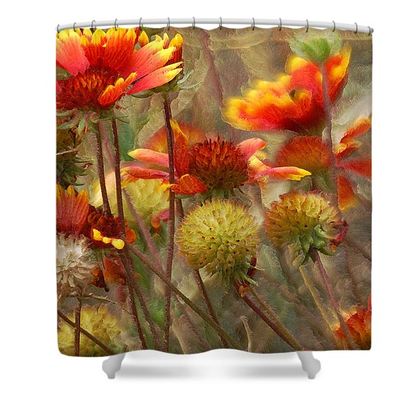 October Flowers 2 Shower Curtain by Ernie Echols
