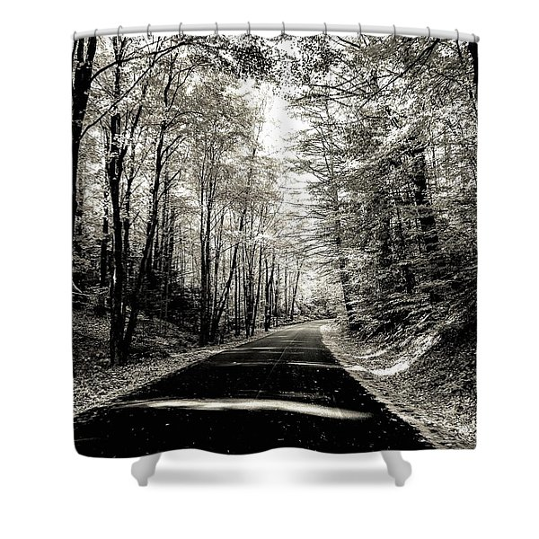 October Grayscale  Shower Curtain