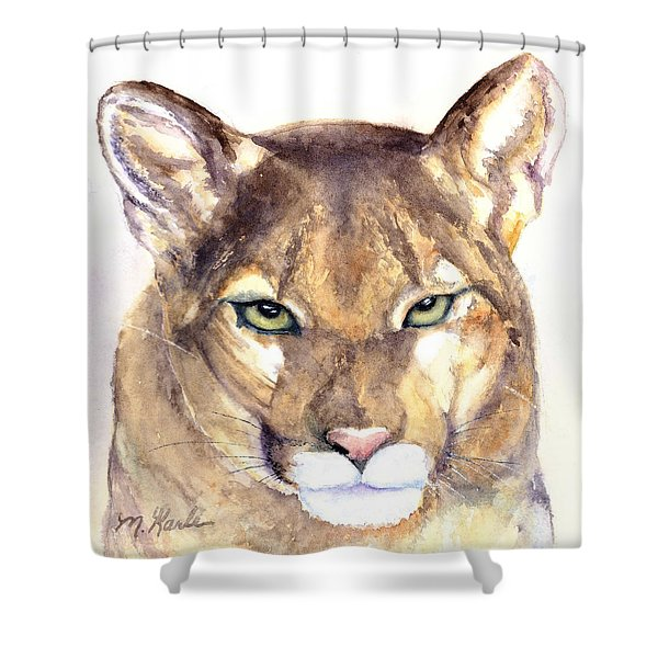 October Lion Shower Curtain