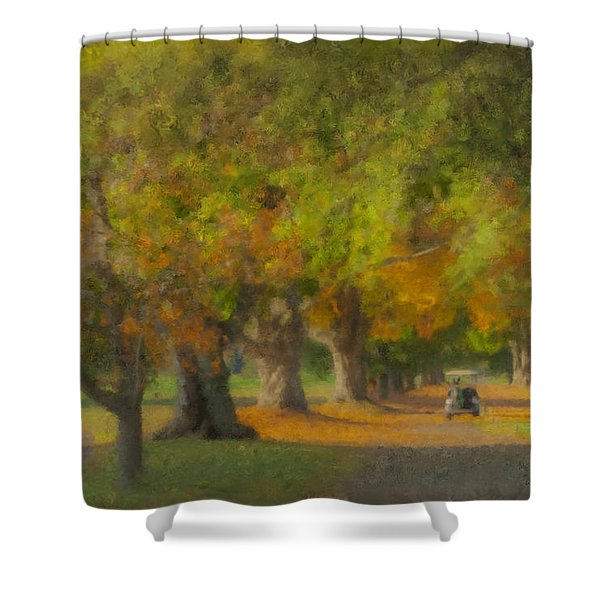 October Morning At Easton Country Club Shower Curtain