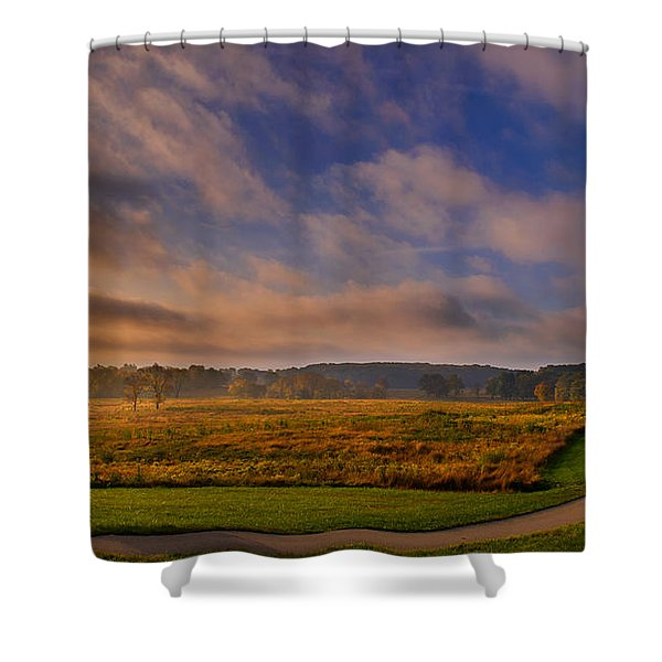 October Morning At Valley Forge Shower Curtain