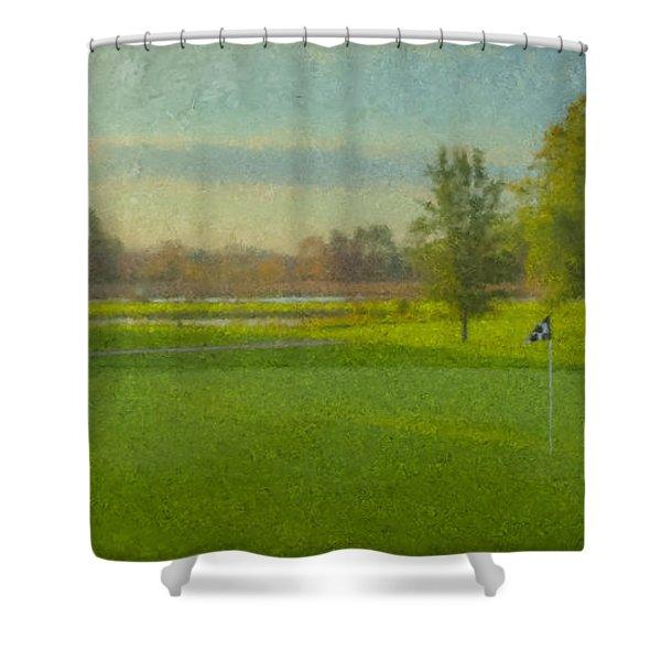 October Morning Golf Shower Curtain