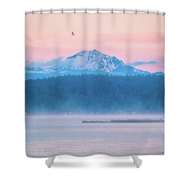 October Snow Shower Curtain