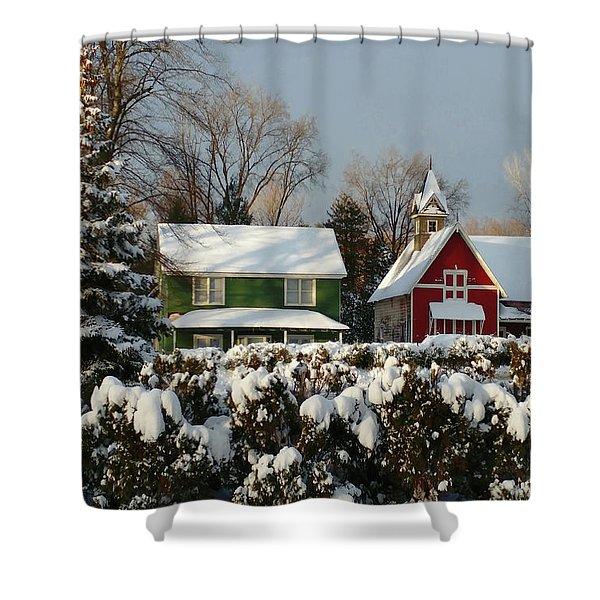 October Snow Shower Curtain