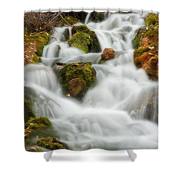 October Waterfall Shower Curtain