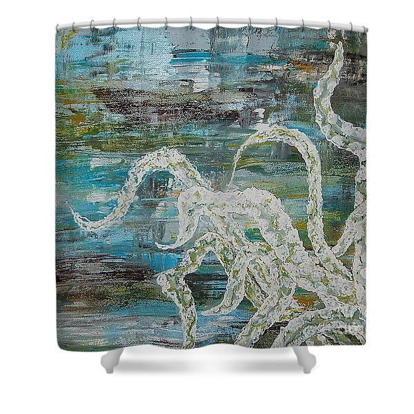 Octopus Of The Deep Shower Curtain