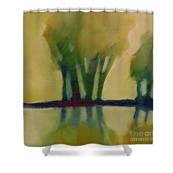 Odd Little Trees Shower Curtain