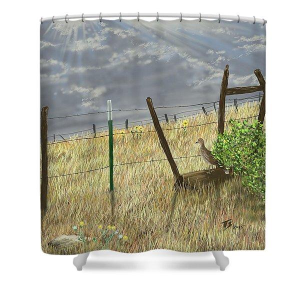 Odd Post Shower Curtain
