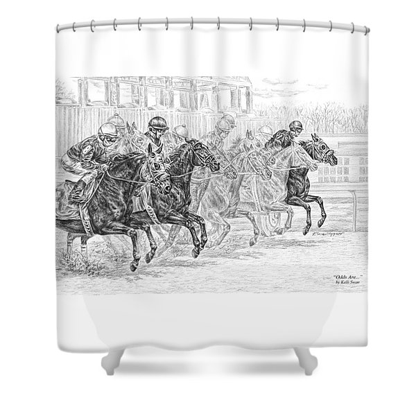 Odds Are... - Tb Race Horse Print Shower Curtain