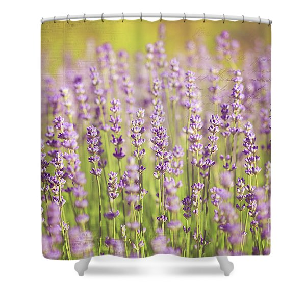 Ode To Lavender Shower Curtain