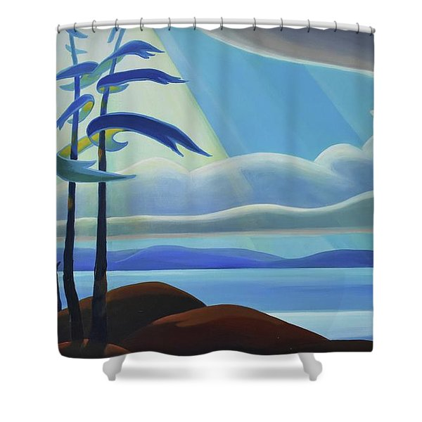 Ode To The North II - Center Panel Shower Curtain