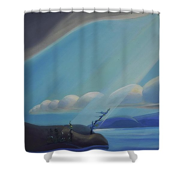 Ode To The North II - Left Panel Shower Curtain