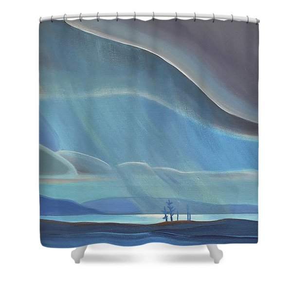 Ode To The North II - Rh Panel Shower Curtain