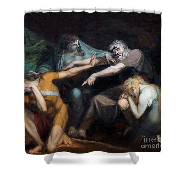 Oedipus Cursing His Son, Polynices Shower Curtain
