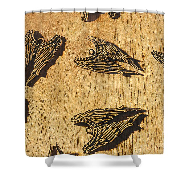Of Devils And Angels Shower Curtain