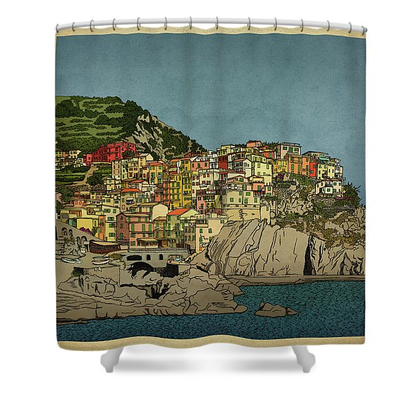 Of Houses And Hills Shower Curtain