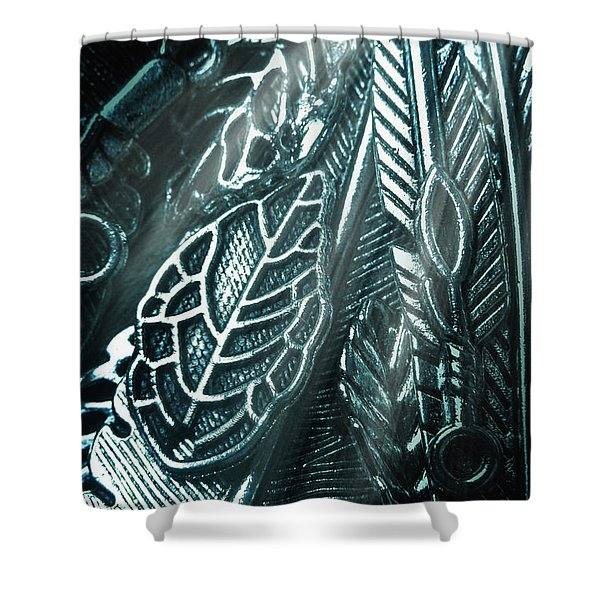 Of Leaves And Feathers Shower Curtain