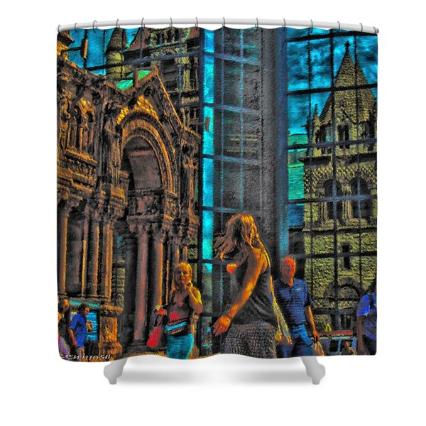 Of Light And Mirrors Shower Curtain