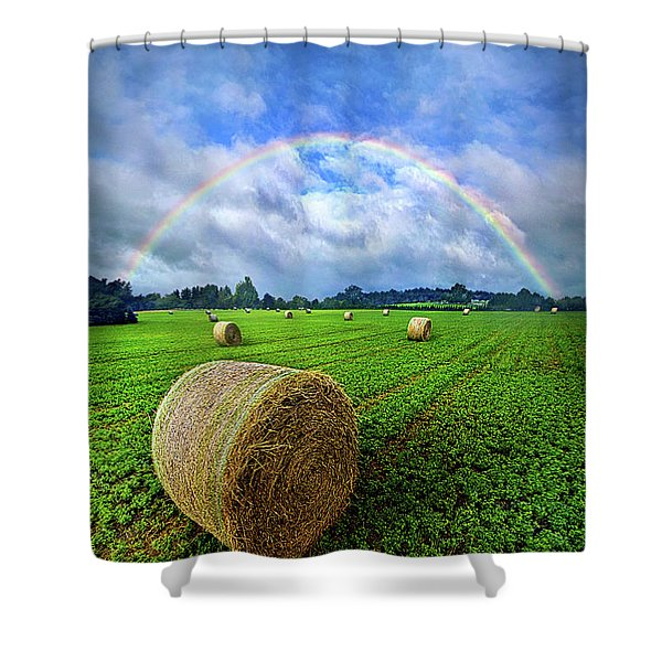 Of The Light So Pure And True Shower Curtain