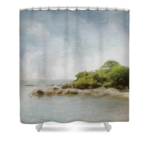 Off Little Diamond Shower Curtain