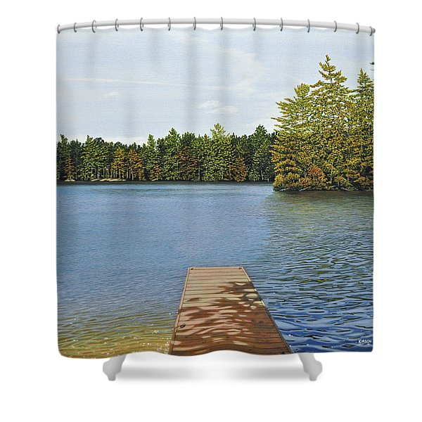 Off The Dock Shower Curtain