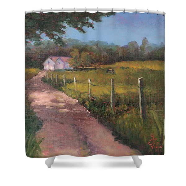 Off The Path In Whiting Bay Shower Curtain
