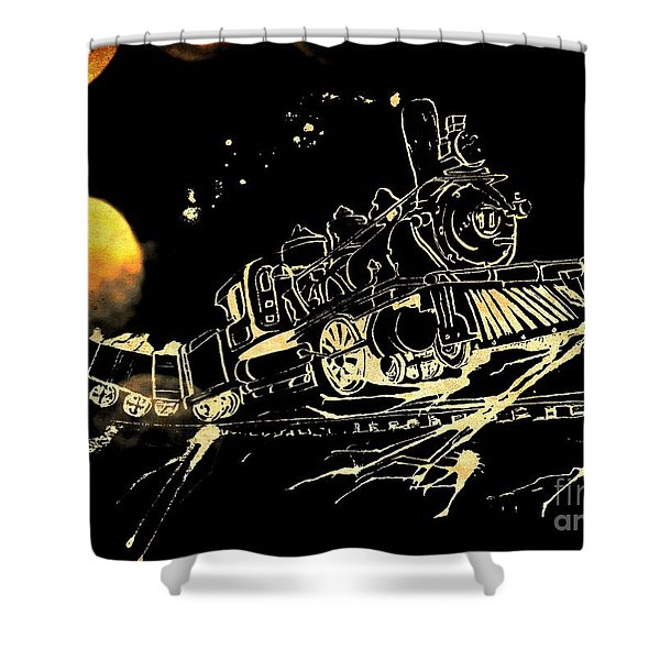 Off The Rails Shower Curtain