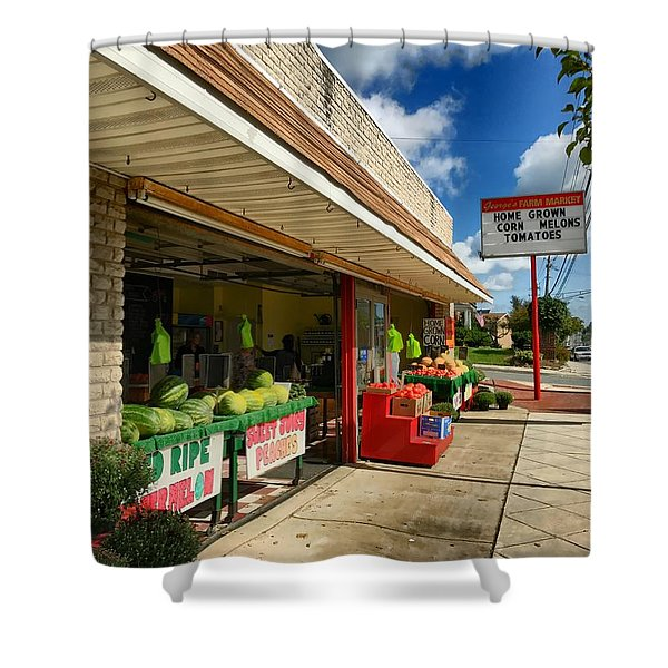 Off To The Market Shower Curtain