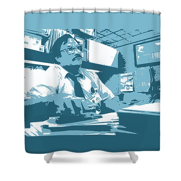 Office Space Milton Waddams Movie Quote Poster Series 003 Shower Curtain