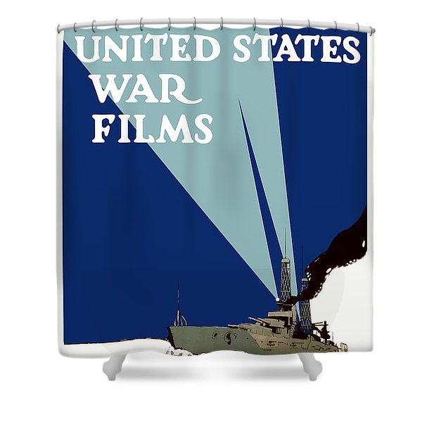 Official United States War Films Shower Curtain