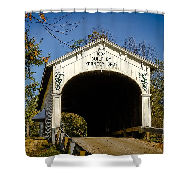 Offutt's Ford Covered Bridge Shower Curtain