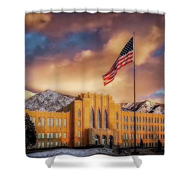Ogden High School At Sunset Shower Curtain