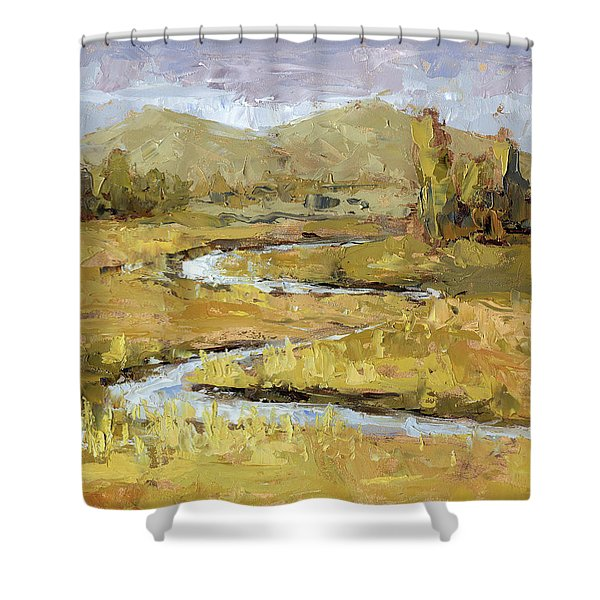 Ogden Valley Marsh Shower Curtain