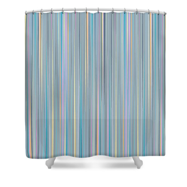 Oh Baby Blue - Stripes Shower Curtain