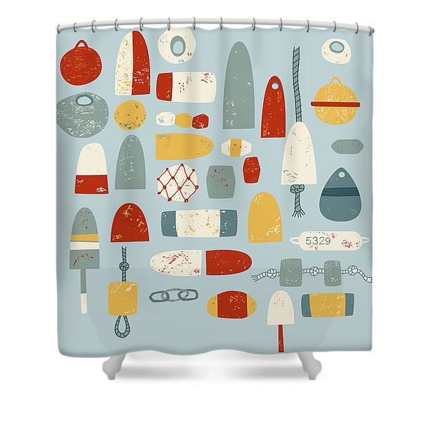 Oh Buoy Shower Curtain