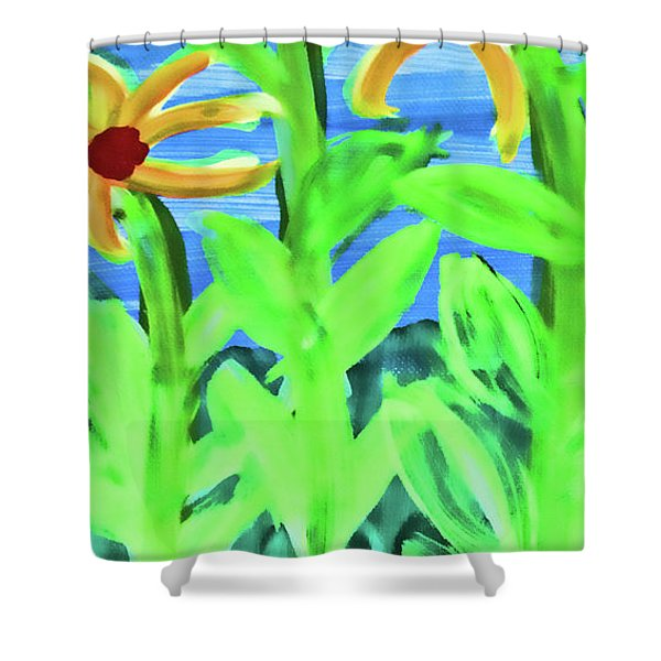 Oh Glorious Day Floral Shower Curtain