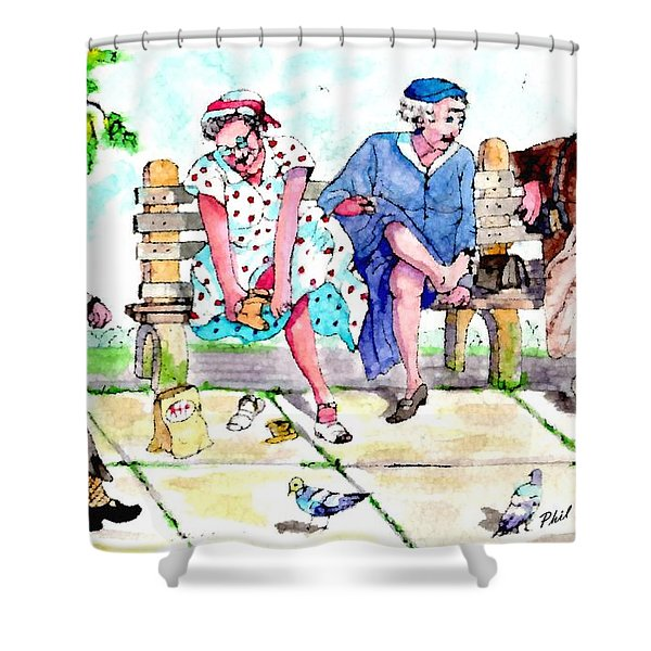Oh My Aching Feet Shower Curtain
