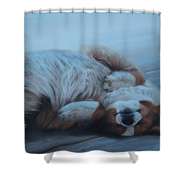 Dog Gone Tired Shower Curtain