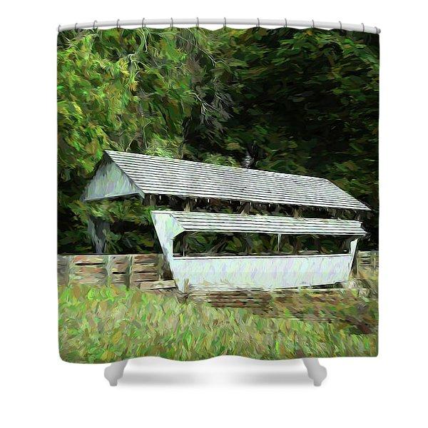 Ohio Covered Bridge Shower Curtain