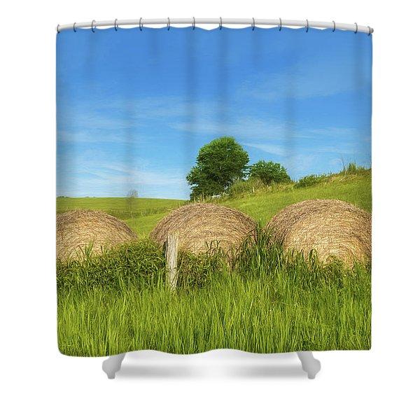 Ohio Landscape In Summer Shower Curtain