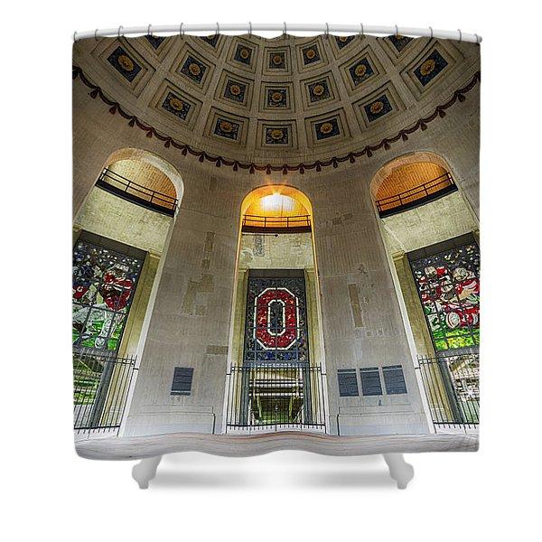Ohio Stadium Rotunda Shower Curtain