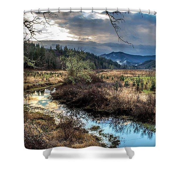 Ohop Creek Shower Curtain