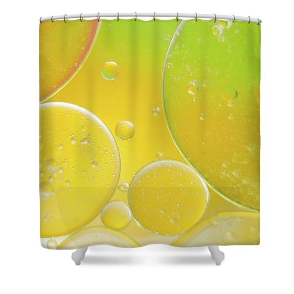 Oil And Water Bubbles  Shower Curtain