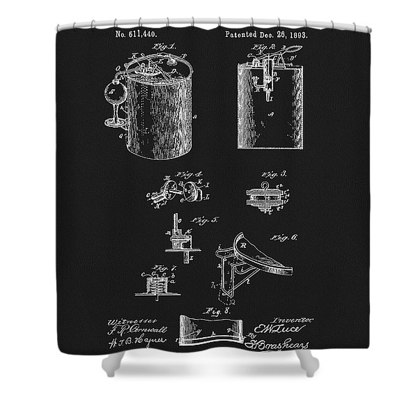 Oil Can Patent Shower Curtain